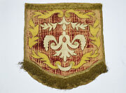 18 C. Antique France French Embroidery Napoleon Textile Panel With Arabic