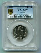 Pcgs Slabbed Ms 66 Unc Nelson Mandela 2000 R5 Super Rare South Africa Coin Ms66