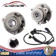 Pair Front Wheel Hub Bearing W/ Abs Assy For Ford Explorer Mercury Mountaineer