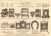 1880 Antique Print - Advert-furniture-maple And Co