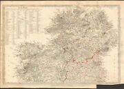 1838 Antique Map- Sduk - Ireland North Sheet With Table Of Round Towers