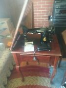 Vintage 1924 German Singer 128-3 Sewing Machine Very Rare Used Condition