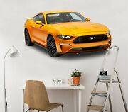 3d Ford Mustang I80 Car Wallpaper Mural Poster Transport Wall Stickers Angelia