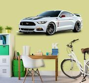 3d Ford Mustang I81 Car Wallpaper Mural Poster Transport Wall Stickers An