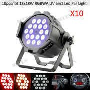 10pcs Rdm Support 18x18w 6in1 Led Par Lights Powercon Stage Lighting Fixtures