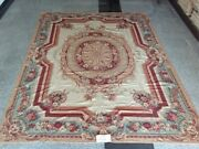 9'x12' Retro French Country Tassel Antique Living Room Decor Needlepoint Rug