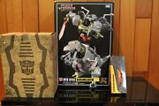 Transformers Masterpiece Mp-08 Grimlock Reissue W/ Flame Sword, Coin And Throne