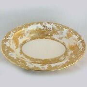 Gold Aves Royal Crown Derby Open Vegetable Bowl 9.7 Long New Never Used England