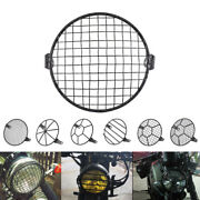 Universal Motorcycle Head Light Cover Mesh Grill Guard Protective Motorbike