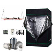 48x48x80 Grow Tent Kit W/ Hlg 600 Rspec And Fan + Carbon Filter Combo 4and039x4and039