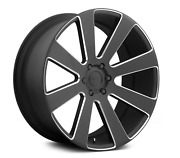 24 Dub S187 8-ball Black With Milled Accents 6x139.7 Bolt Pattern Set Of 4