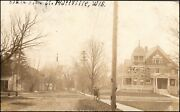 Platteville Wi, South Elm Street, Wisconsin Rppc Postcard By Northern Photo Co.