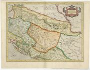 Antique Map Of The Eastern Balkans By Mercator 1633