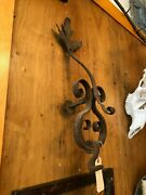 Early Hand Forged Wrought Iron Castle Door Knocker