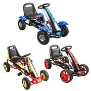 Kids Pedal Go Kart Ride On Car Toy Outdoor Bike Racing Cars W/4 Wheels 3 Size