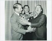 Mickey Mantle Jack Fisher And Rocky Graziano High Quality Reprint 8x10 Photograph