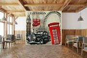 3d London Car Poster G448 Transport Wallpaper Mural Self-adhesive Removable Wend