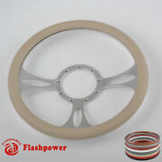 14and039and039 Billet Steering Wheels Tan Color Street Rod Ford Ltd Ranchero Ranch Gto