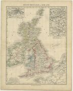 Antique Map Of The United Kingdom And Ireland By Petri C.1873