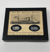 Civil War Shipwreck Recovery Bullet Set From The Governor With Case And Coa