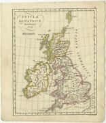 Antique Map Of The United Kingdom And Ireland By Funke 1825