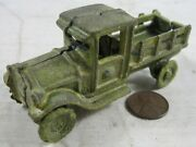 Antique 1910's Cast Iron Stake Bed Truck