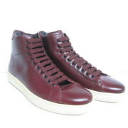 P-818218 New Tom Ford Burgundy Informal High Top Sneakers Size Us 8