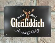 Wall Decoration Glenfiddich Scotch Whiskey Metal Poster Plaque