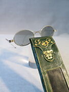Antique Case A Glasses Leather Decore The Petits Irons And Glasses Second Empire