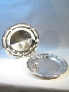 Antique Pair Great Plates Sterling Silver Style Louis Xv Time Napoleon 3
