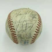 Jim Thome Rookie Year - 1992 Cleveland Indians Team Autographed Ball - Jsa Coa