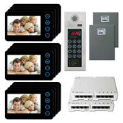 Home Apartment Security Video Intercom System With 12 5 Door Camera Monitors