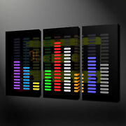 Equalizer Musical Canvas Wall Art Pictures Prints Free Uk Pandp Variety Of Sizes