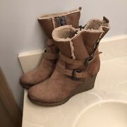 Celtic And Co Shearling Leather Boots Womens Size 9 Us 40 Eu - Sold Out