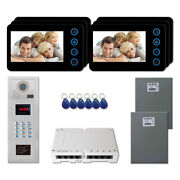 Home Security Video Intercom System Kit With 6 5 Door Panel Color Monitors
