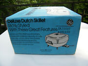 Ge 5.5 Qt Avocado Green Electric Deluxe Teflon Dutch Skillet With Lid New In Box