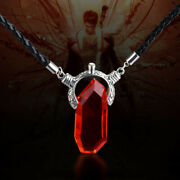 Devil May Cry Dmc Dante Vergil Nephilim Ruby Crystal Pendant Chain Necklace Gift