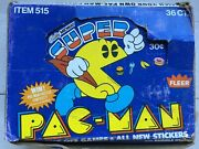 Vintage 1982 Super Pac-man Bubble Gum Trading Card Box + 35 Unopened Packs