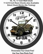 Willys Cj-2a Military Jeep Wall Clock-ford Chevrolet Dodge Jeep
