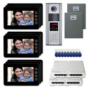 New Apartment Home Security Video Intercom System Kit With 9 7 Color Monitors
