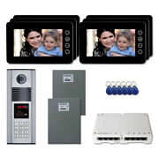 Multi Tenant Building Video Intercom System Kit With 6 7 Color Monitors