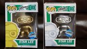 Stan Lee Gold And Silver Funko Pop Set Nycc Exclusive Rare Black Friday Special