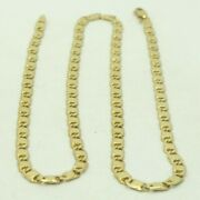 14k Yellow Gold Mariner Link Chain Necklace Italian 19.5 Inch 3.7mm 15.9g M549