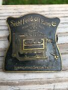 Rare Bronze Advertising Paper Clip Sight Feed Oil Milwaukee Wis Hit Miss Engine