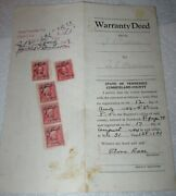 Cumberland County, Tennessee, Warranty Deed, 1944, Document Tax Stamps