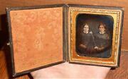 Old Vintage Antique Daguerreotype Photo Of Lovely Pretty Young Girl Ladies Girls