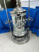 Dated February 14th 1888 James W Tufts Antique Tilting Water Pitcher W Drip Tray