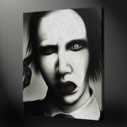 Iconic Marilyn Manson Canvas Wall Art Picture Print Variety Of Sizes Free Uk Pandp