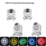 4pcs/lot White 230w 7r Moving Head Lights Dmx Stage Beam Fixtures Touch Screen