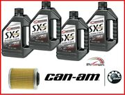 Can-am Xps 10w-50sae Full Synthetic Oil Change Kit Brp Rotax 900 Ace Engines